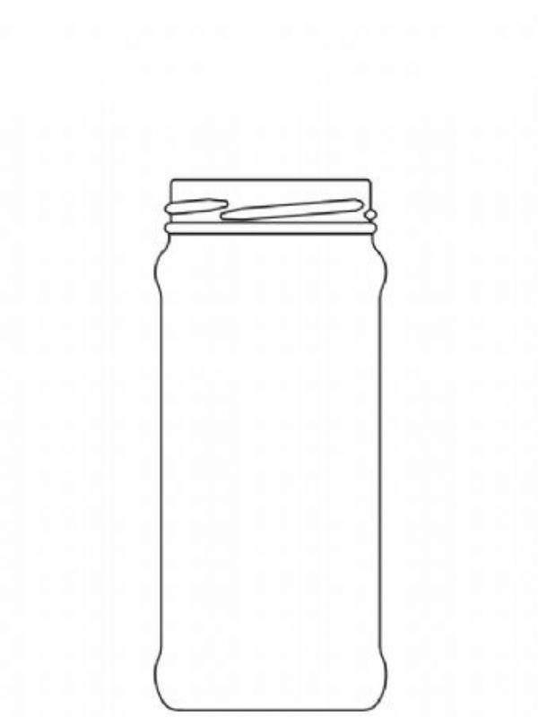 Jam Jars Round Glass Chutney 284ml (x72) 1
