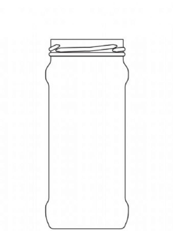 Jam Jars Round Glass Chutney 370ml