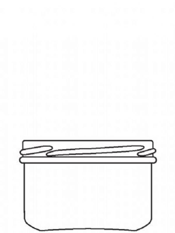 Jam Jars Round Short Glass 262ml