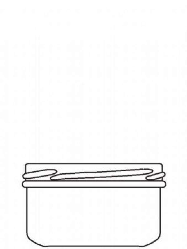 Jam Jars Round Short Glass 190ml