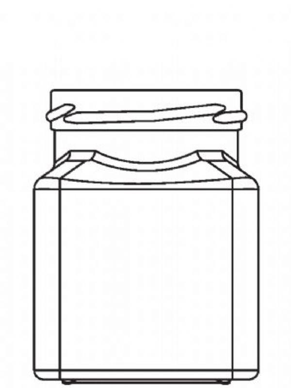 Jam Jars Square Glass 282ml