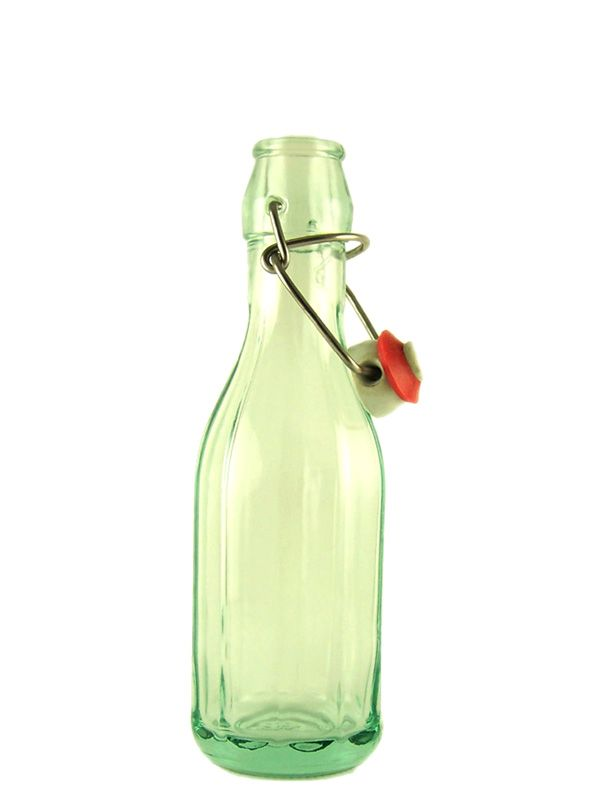 Swing Top Glass Bottle Lucca 250ml Costolata