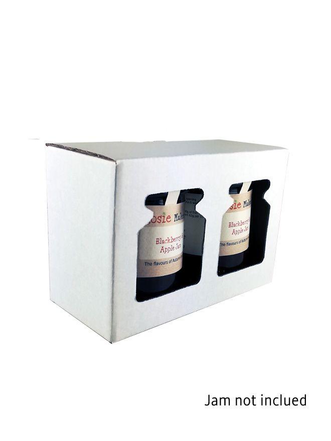 Retail Display Box 2 x 8oz Jars White (10)