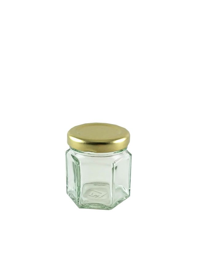 British Jam Jars Hexagonal 45ml (x13)