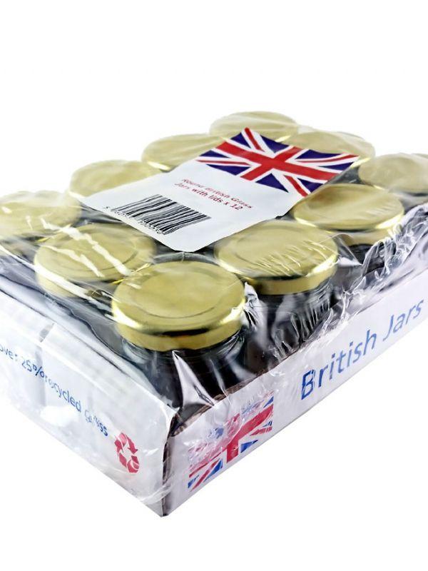 British Jam Jars Round 45ml (12) 2