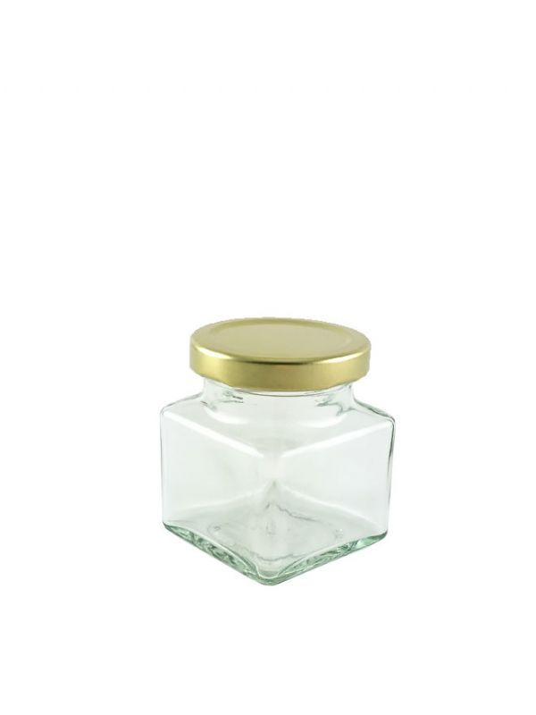 British Jam Jars Square Glass 130ml (6) 1