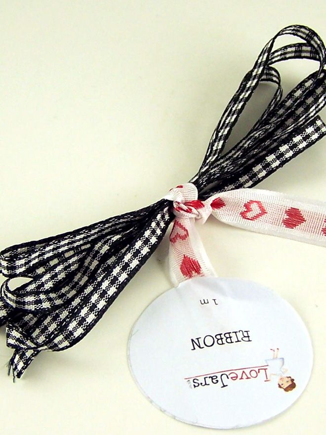 Ribbon Black Gingham 5mm x 2m