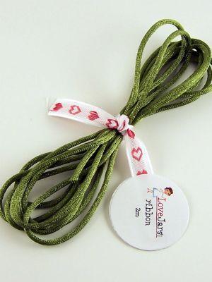 Love jam jars | L Moss Green Rat Tail Ribbon