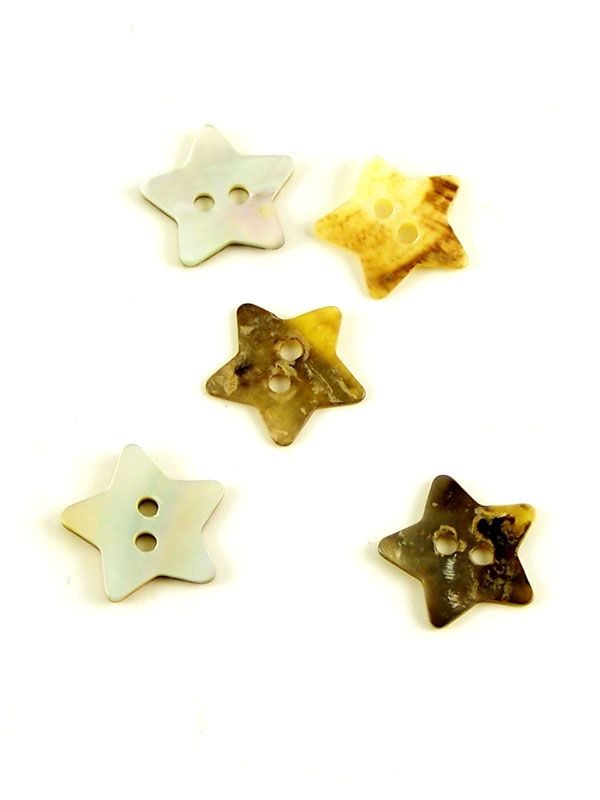 Mother of Pearl Star Button
