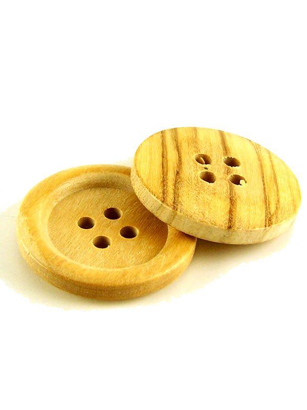 Round Wooden Jumbo Button
