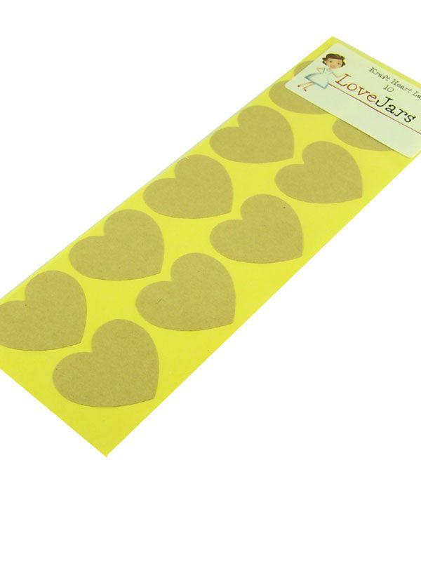 Kraft Heart Labels