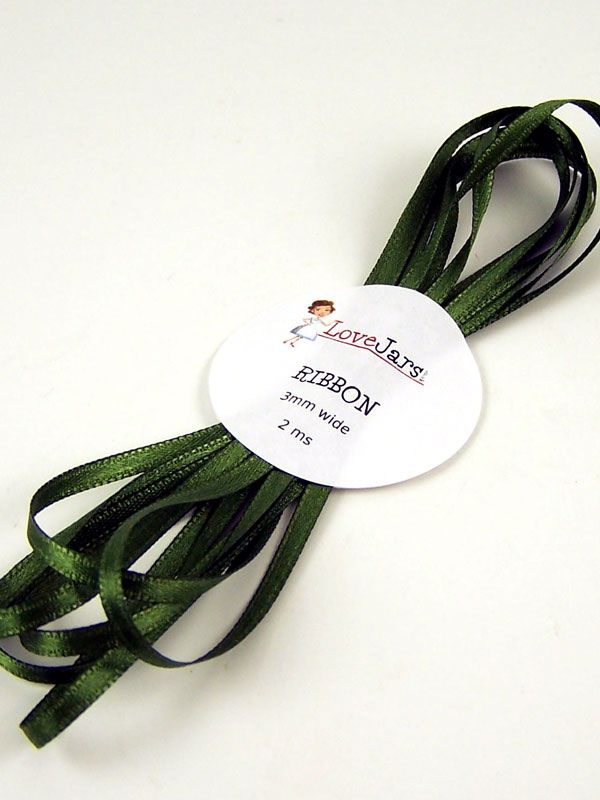 Ribbon Moss Green 3mm x 2m