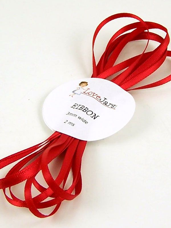 Ribbon Robin Red 3mm x 2m