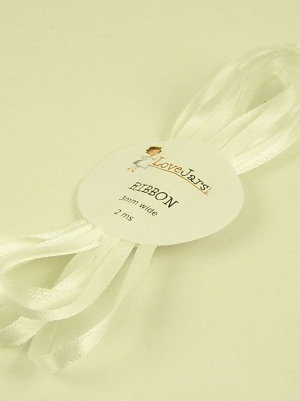 Ribbon English White 3mm x 2m