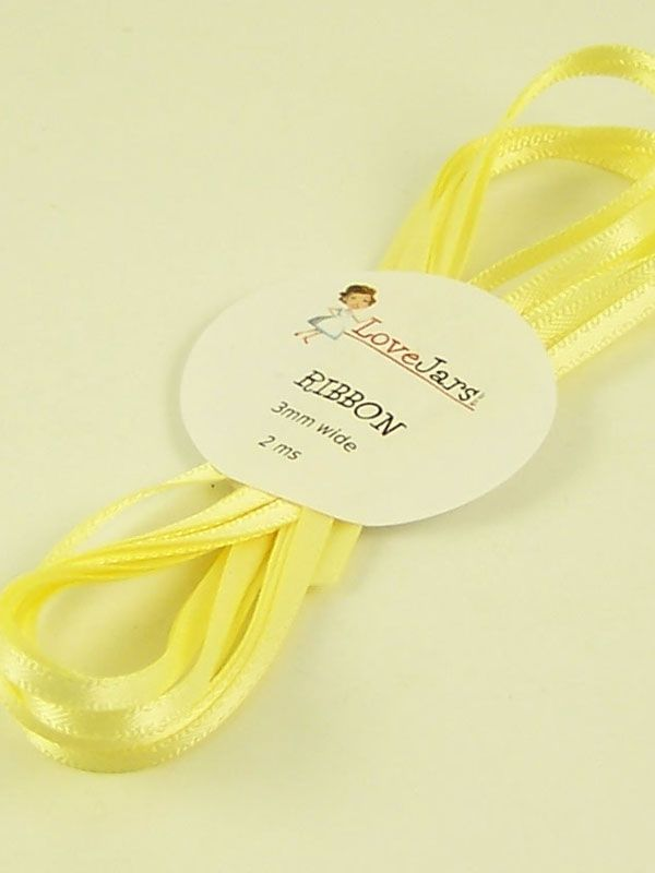 Ribbon Butter Yellow 3mm x 2m