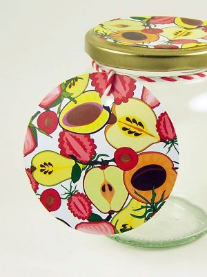 Love jam jars | A Round gift tag
