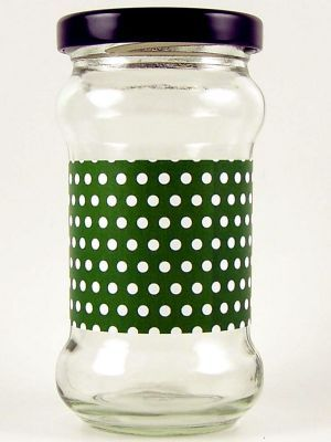 Love jam jars | L Green Spot Jar Wrap