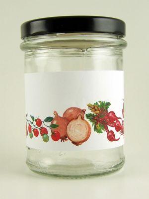 Love jam jars | B Classic Vegetable Stripe Jar Wrap