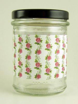 Love jam jars | A Roses Pink and Cream Jar Wrap