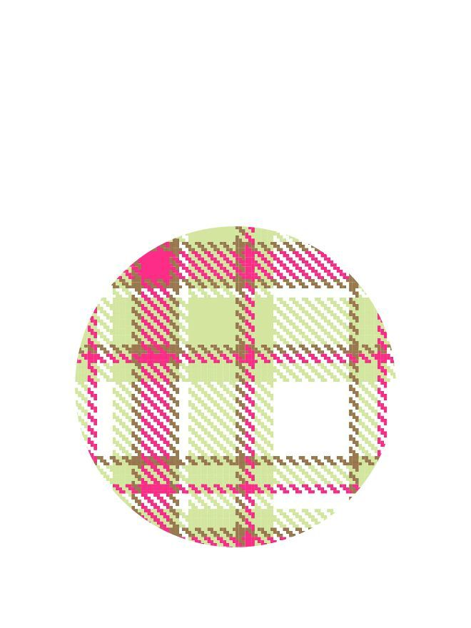 Lid Topper 40mm Summer Frock Plaid