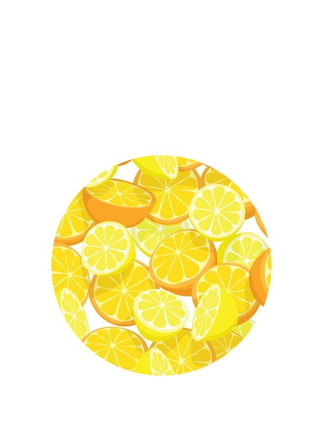 Lid Topper 40mm Orange & Lemon