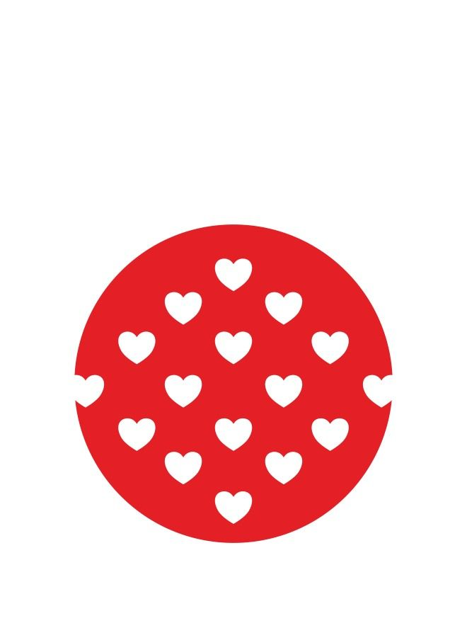 Lid Topper 40mm Red Hearts