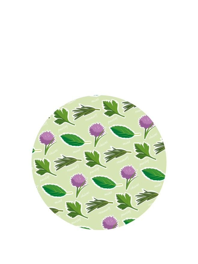 Lid Topper 40mm Garden Herbs