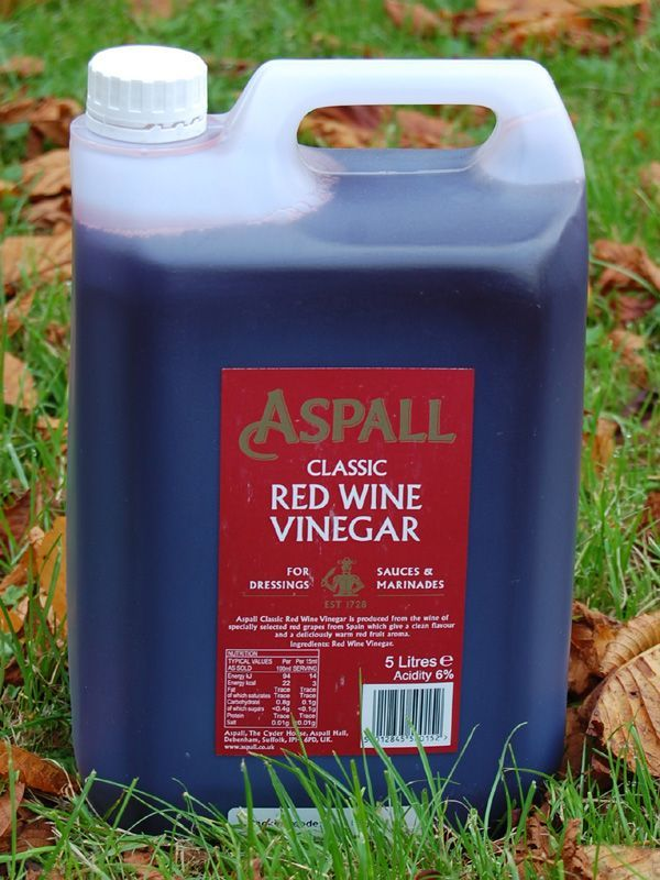 Vinegar: Aspall Red Wine 5 litres