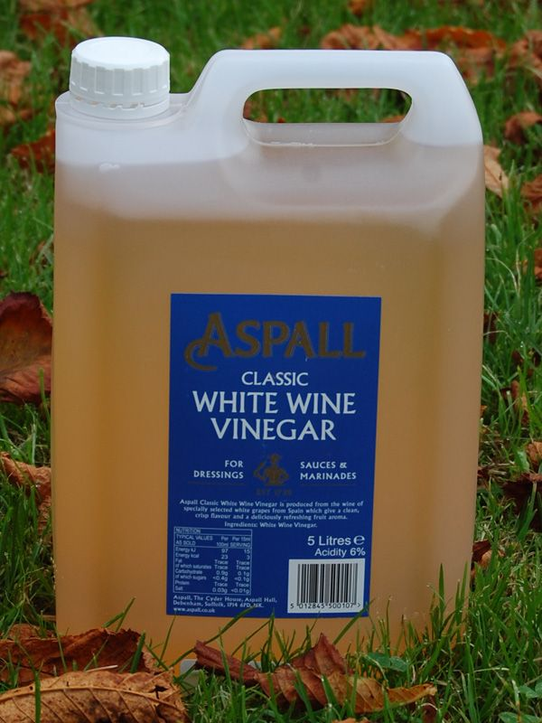 Vinegar: Aspall White Wine 5 litres